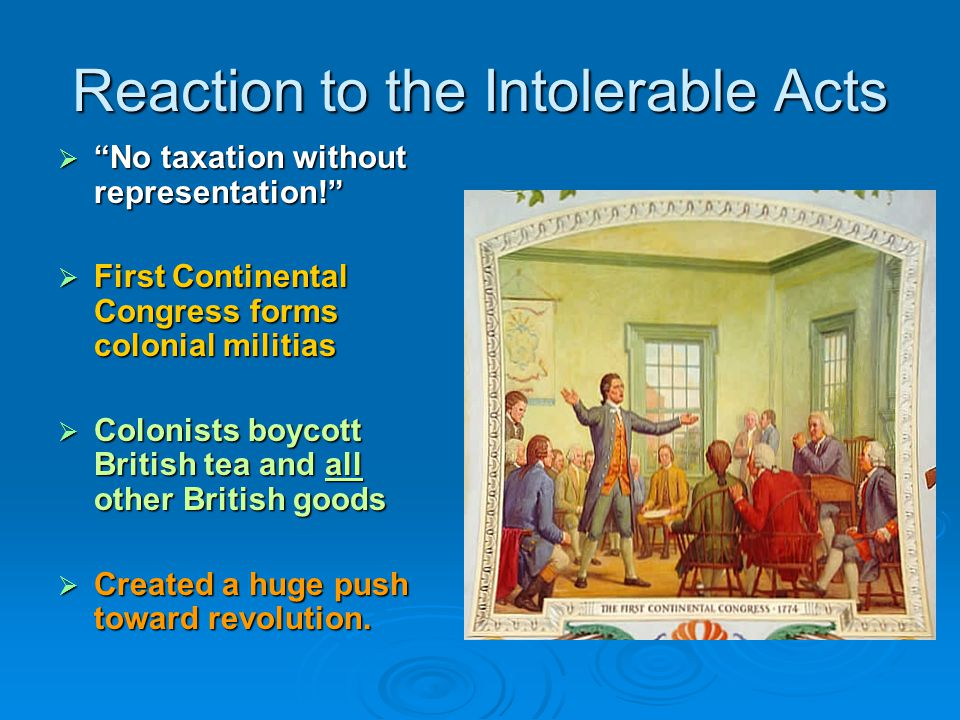 Reaction to the Intolerable Acts