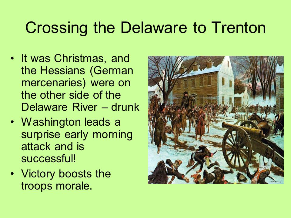 Crossing the Delaware to Trenton