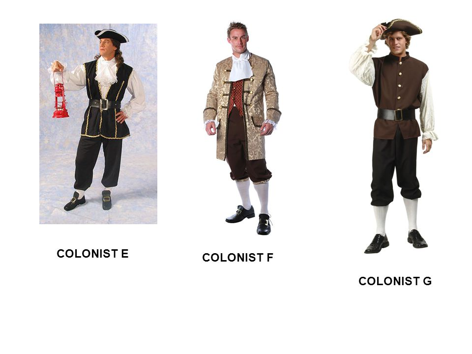 COLONIST E COLONIST F COLONIST G