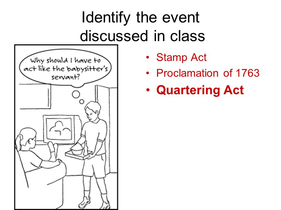 Identify the event discussed in class