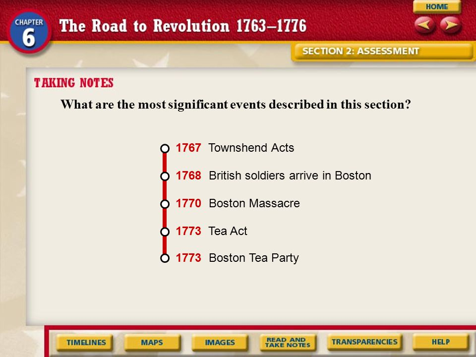 What are the most significant events described in this section