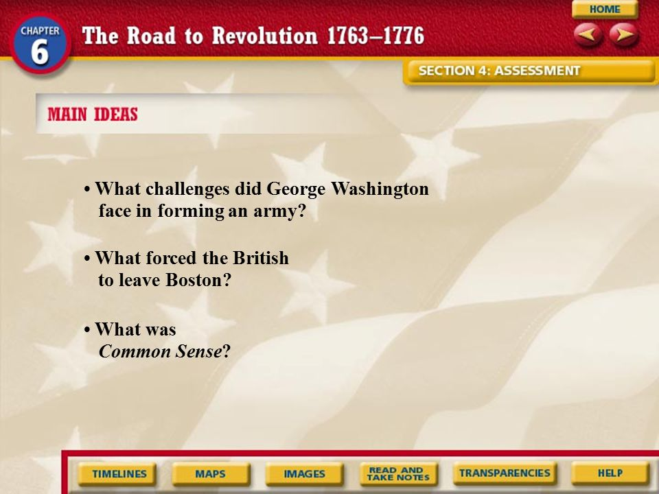 • What challenges did George Washington