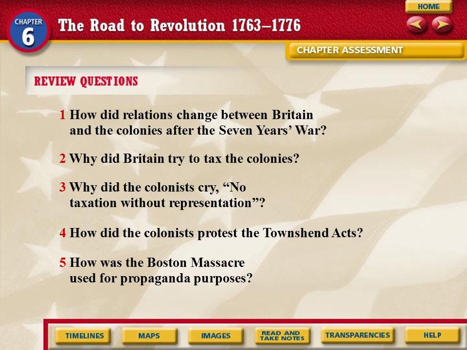 1 How did relations change between Britain