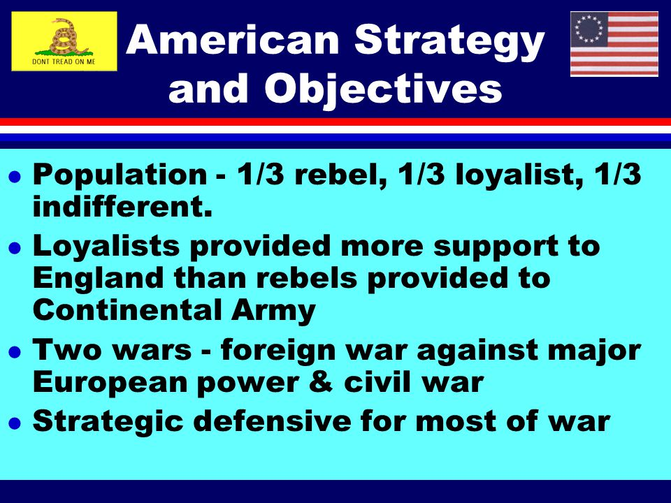 American Strategy and Objectives