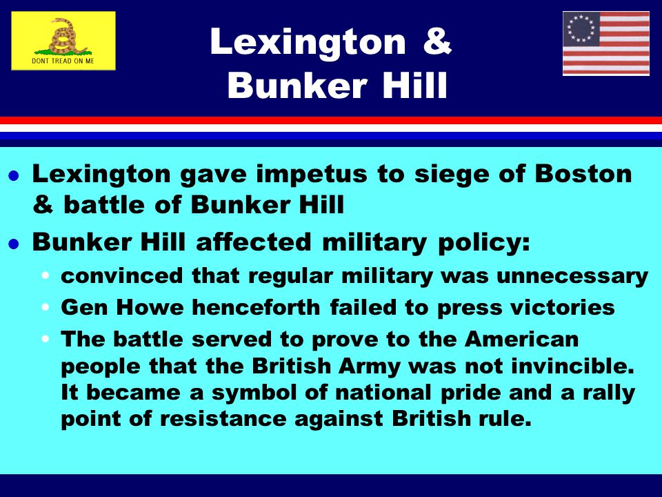 Lexington & Bunker Hill