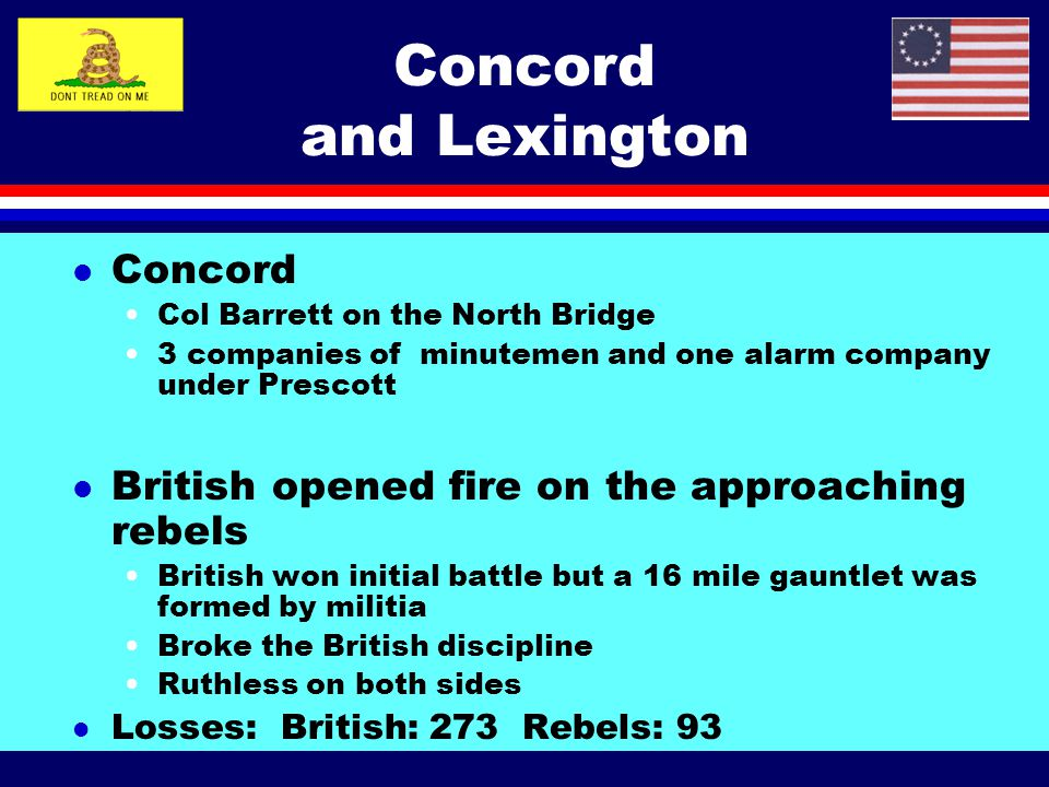 Concord and Lexington Concord