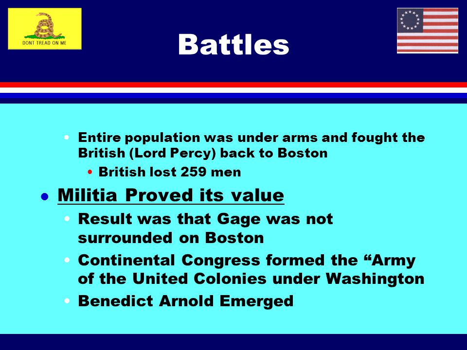 Battles Militia Proved its value