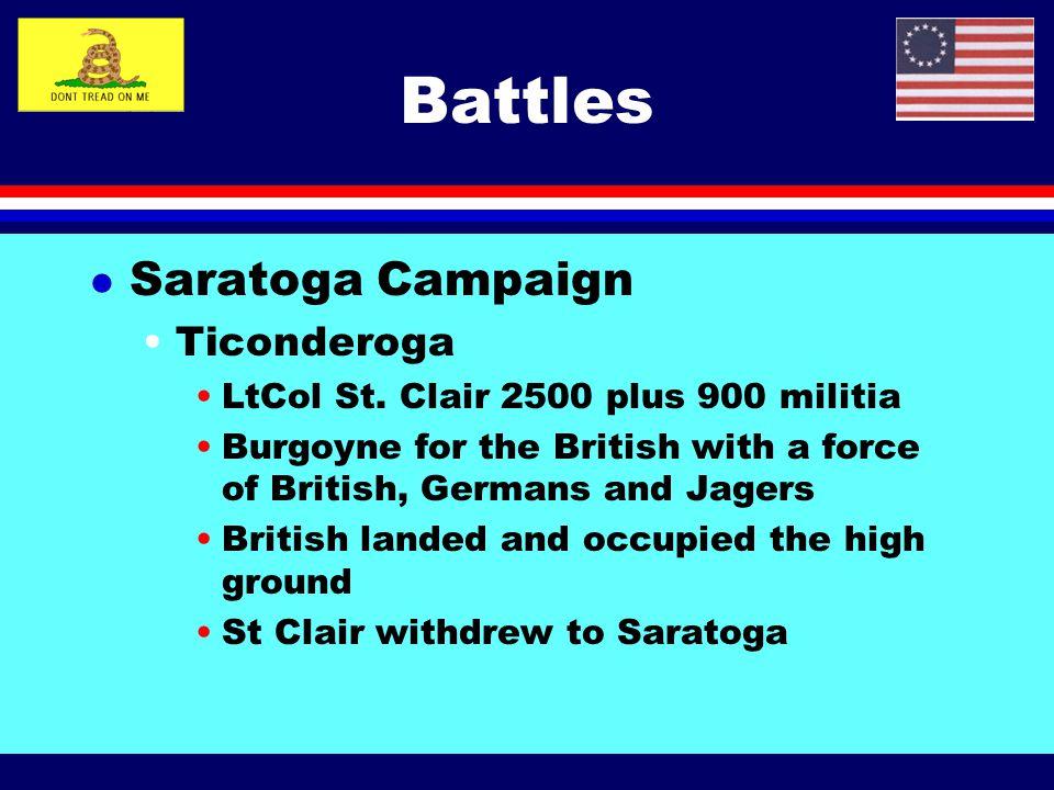 Battles Saratoga Campaign Ticonderoga