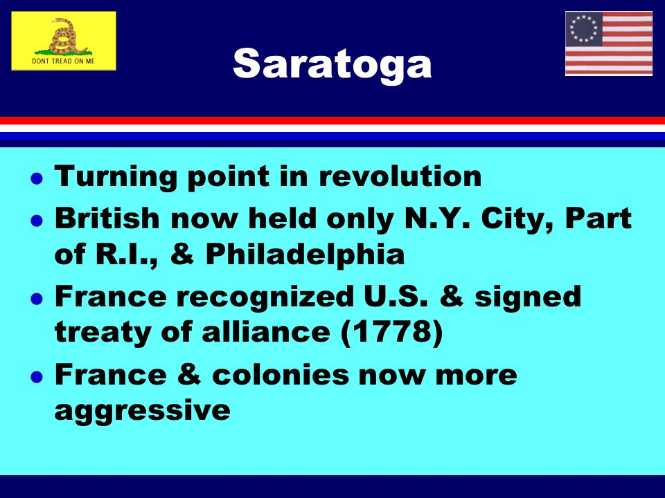 Saratoga Turning point in revolution