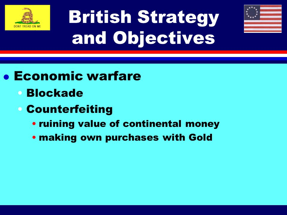 British Strategy and Objectives