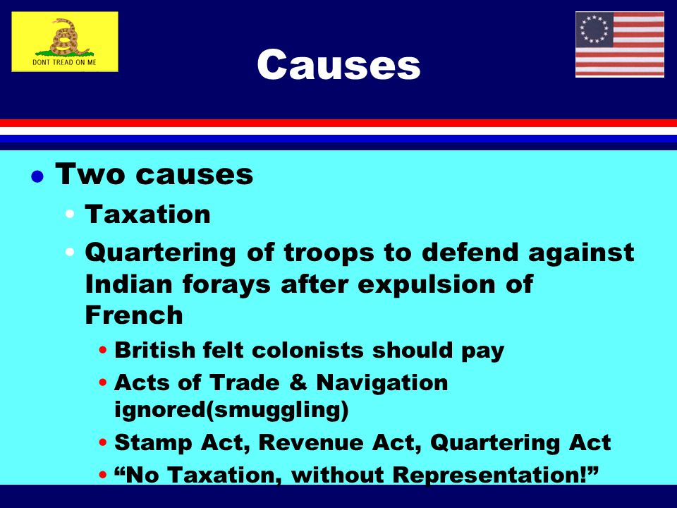 Causes Two causes Taxation
