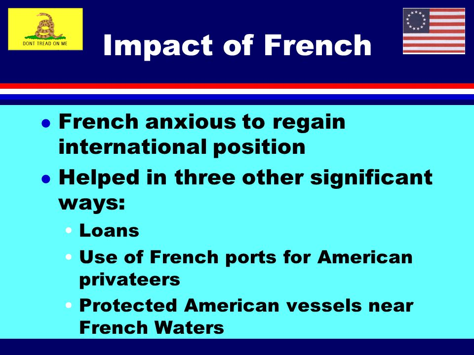 Impact of French French anxious to regain international position