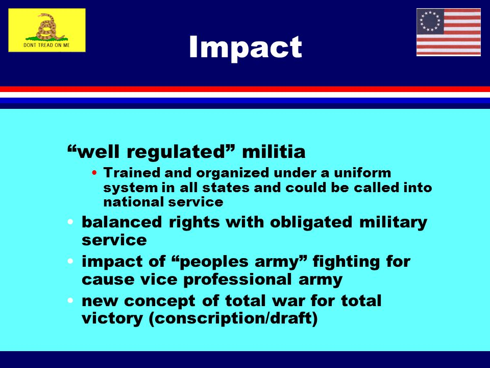 Impact well regulated militia