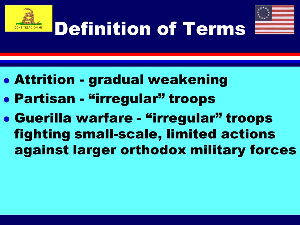 Definition of Terms Attrition - gradual weakening