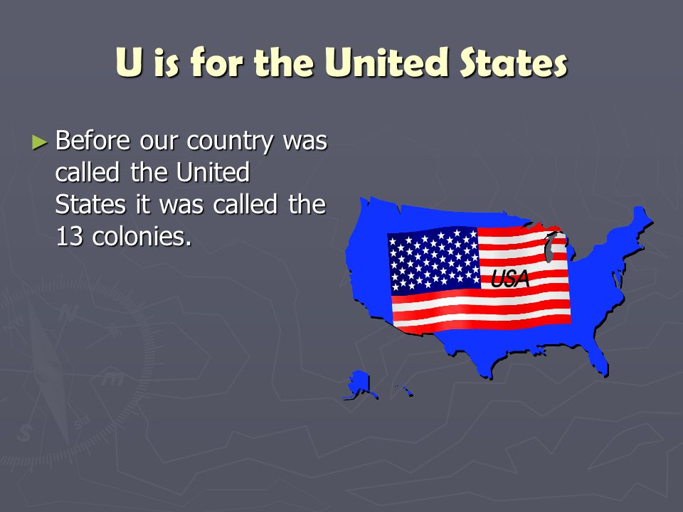 U is for the United States
