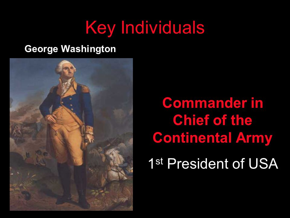 Commander in Chief of the Continental Army