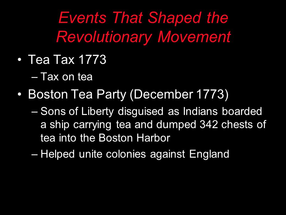 Events That Shaped the Revolutionary Movement