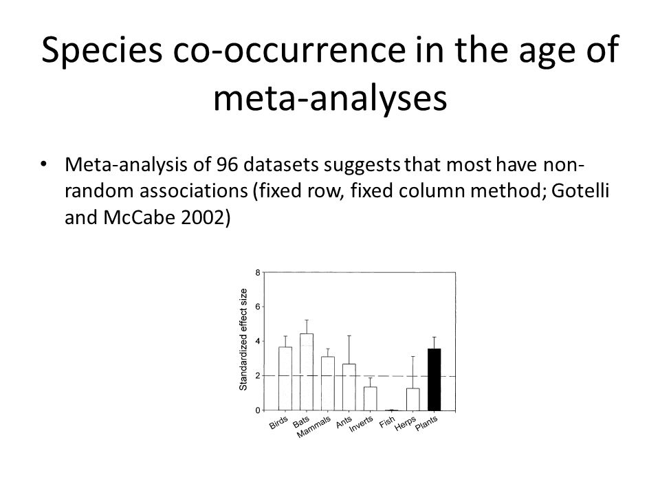 Species co-occurrence in the age of meta-analyses