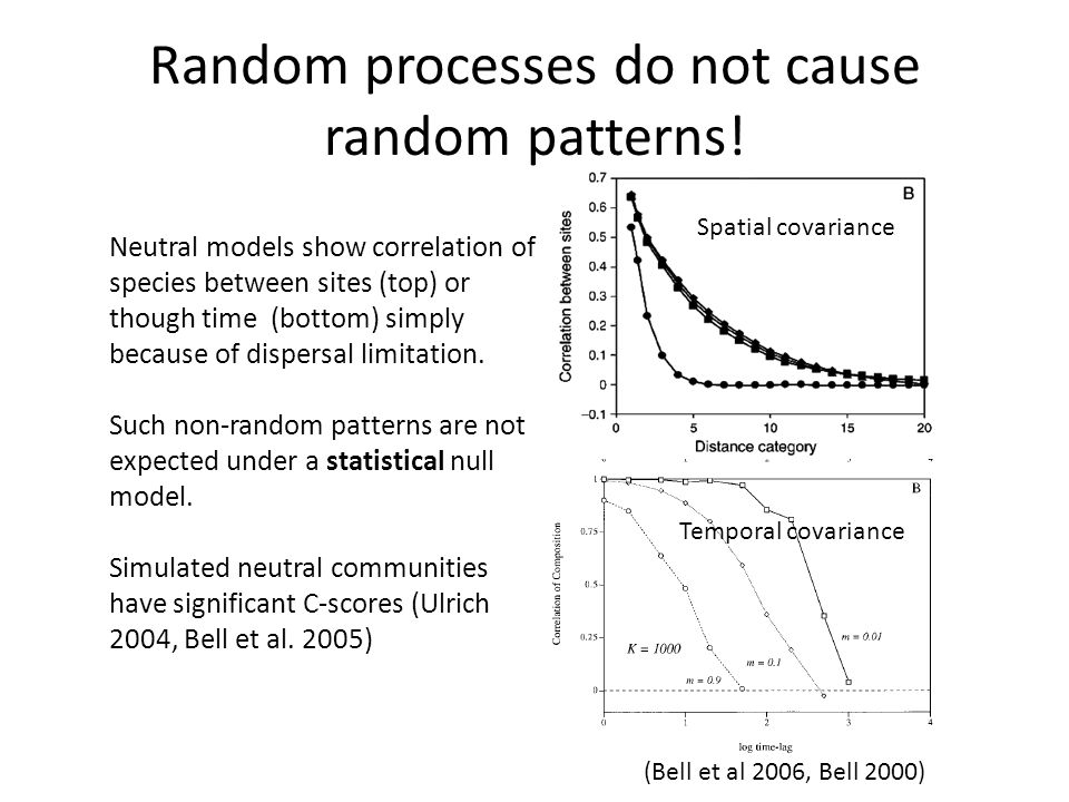 Random processes do not cause random patterns!