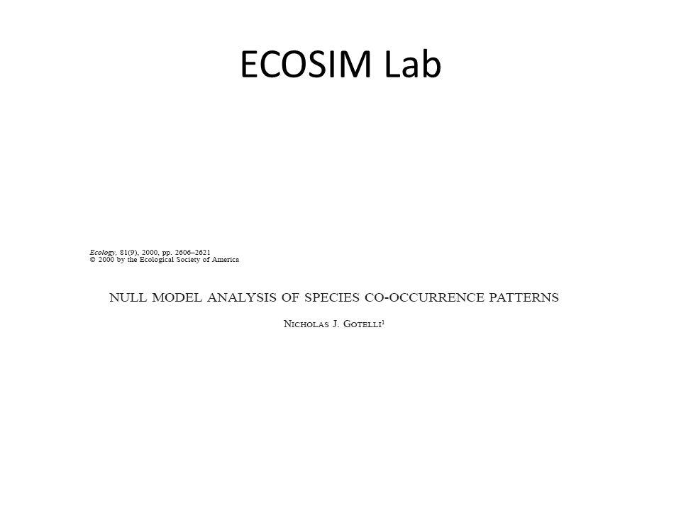 ECOSIM Lab