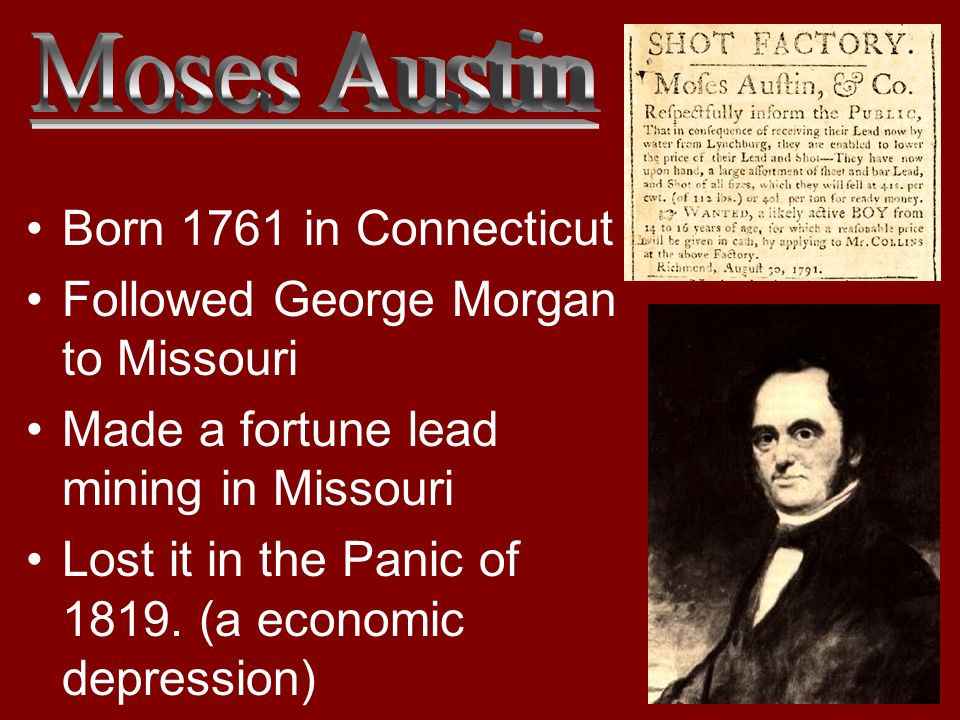 Followed George Morgan to Missouri