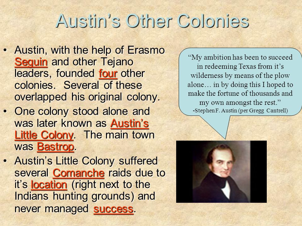 Austin's Other Colonies