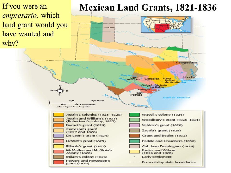 If you were an empresario, which land grant would you have wanted and why