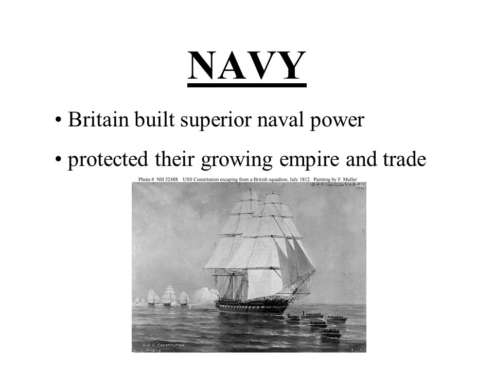 NAVY Britain built superior naval power