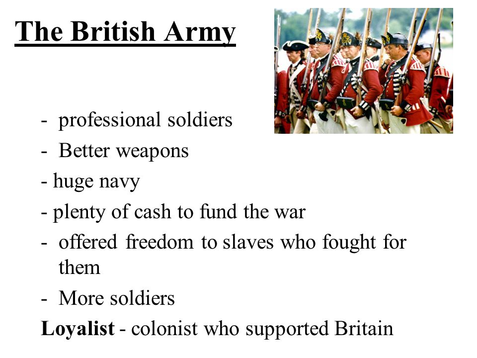The British Army professional soldiers Better weapons - huge navy