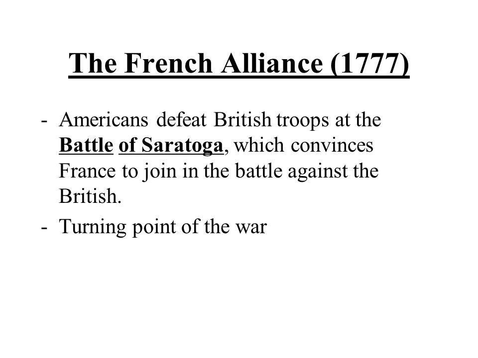 The French Alliance (1777)