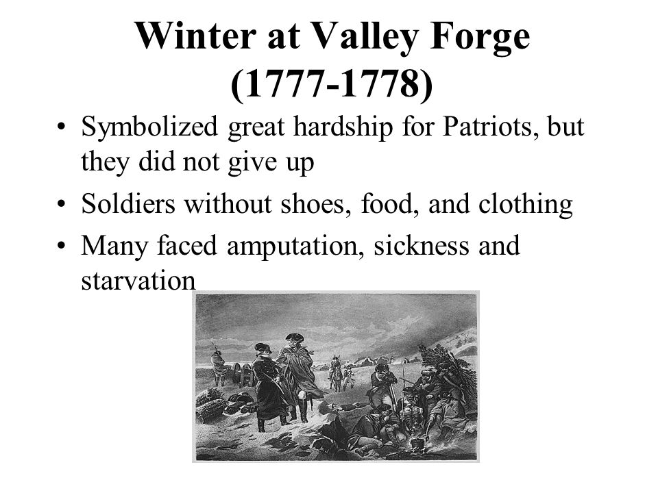 Winter at Valley Forge (1777-1778)