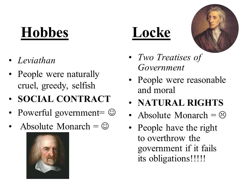 Hobbes Locke Two Treatises of Government Leviathan