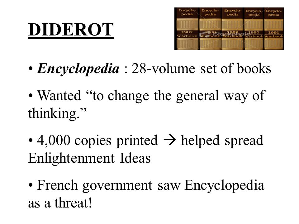 DIDEROT Encyclopedia : 28-volume set of books