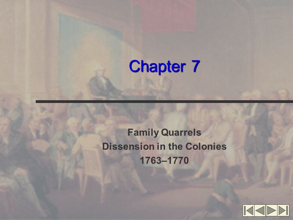 Family Quarrels Dissension in the Colonies 1763–1770