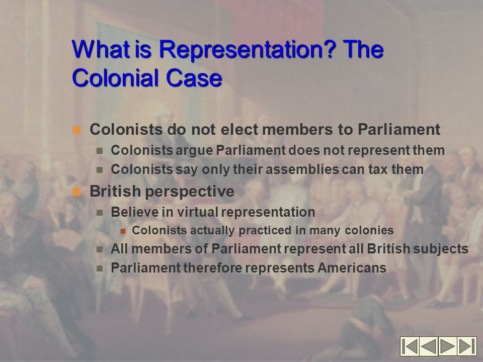 What is Representation The Colonial Case