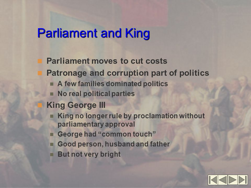 Parliament and King Parliament moves to cut costs