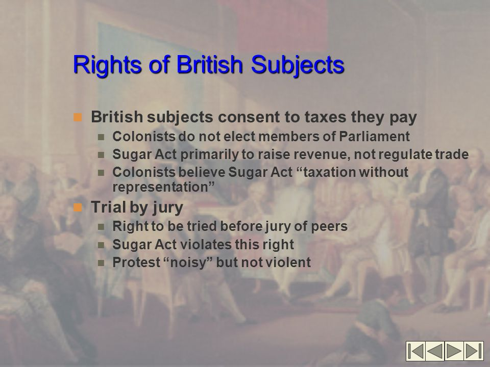 Rights of British Subjects