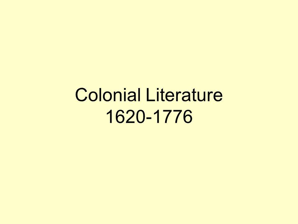 Colonial Literature 1620-1776
