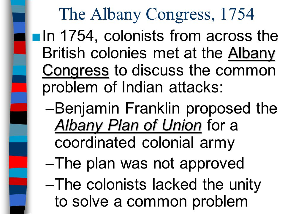 The Albany Congress, 1754