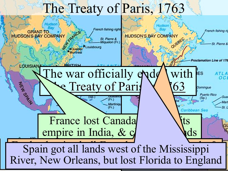 The war officially ended with the Treaty of Paris in 1763