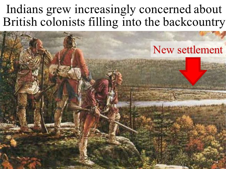 Indians grew increasingly concerned about British colonists filling into the backcountry