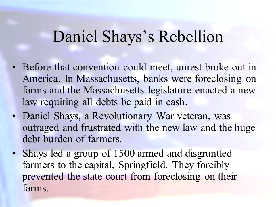 Daniel Shays's Rebellion