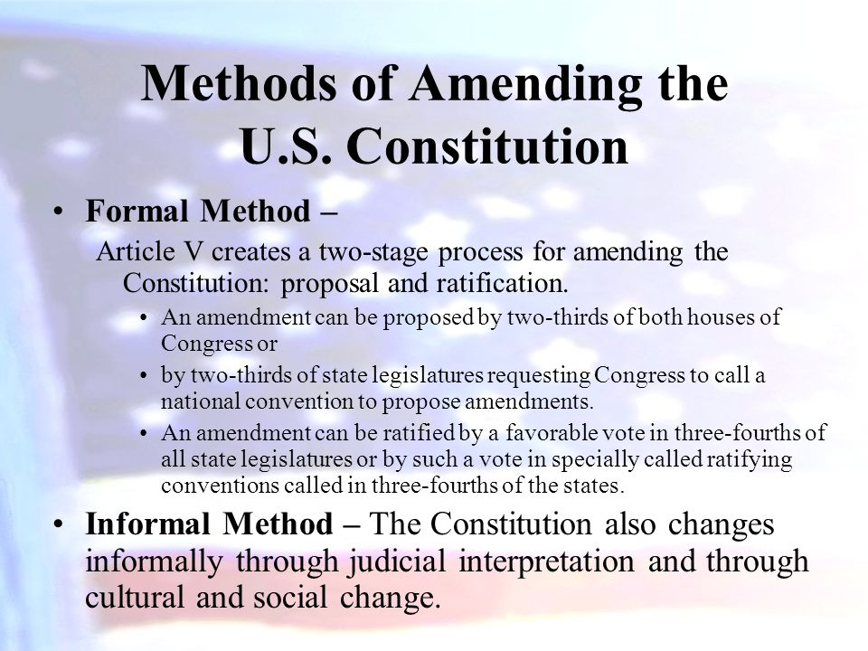 Methods of Amending the U.S. Constitution