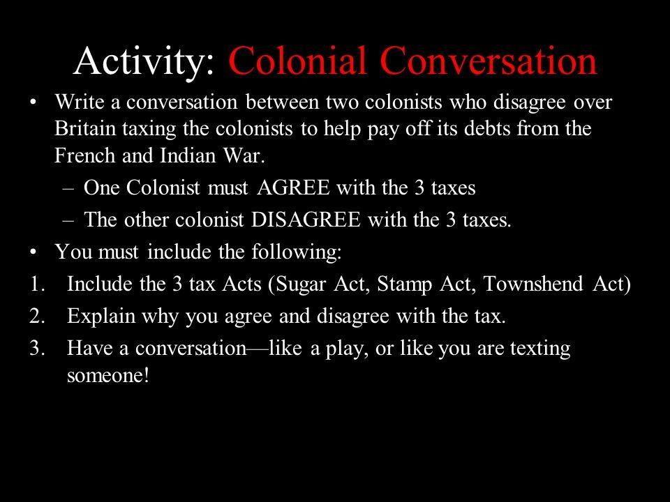 Activity: Colonial Conversation