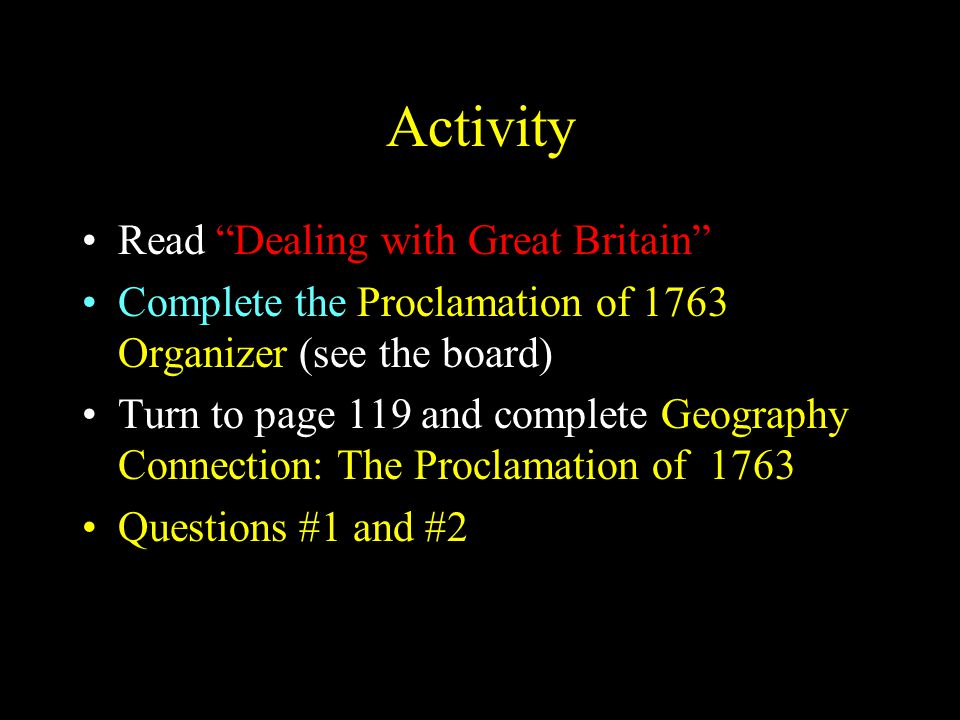 Activity Read Dealing with Great Britain