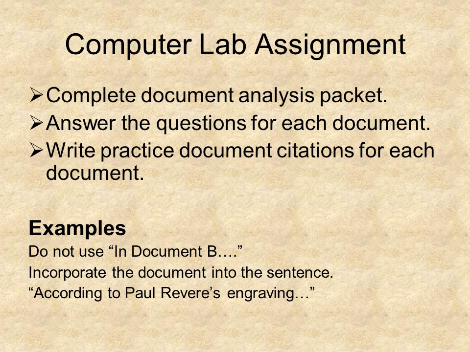 Computer Lab Assignment