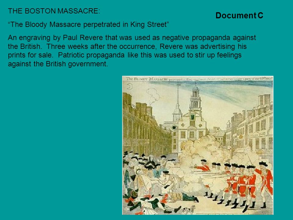 Document C THE BOSTON MASSACRE: