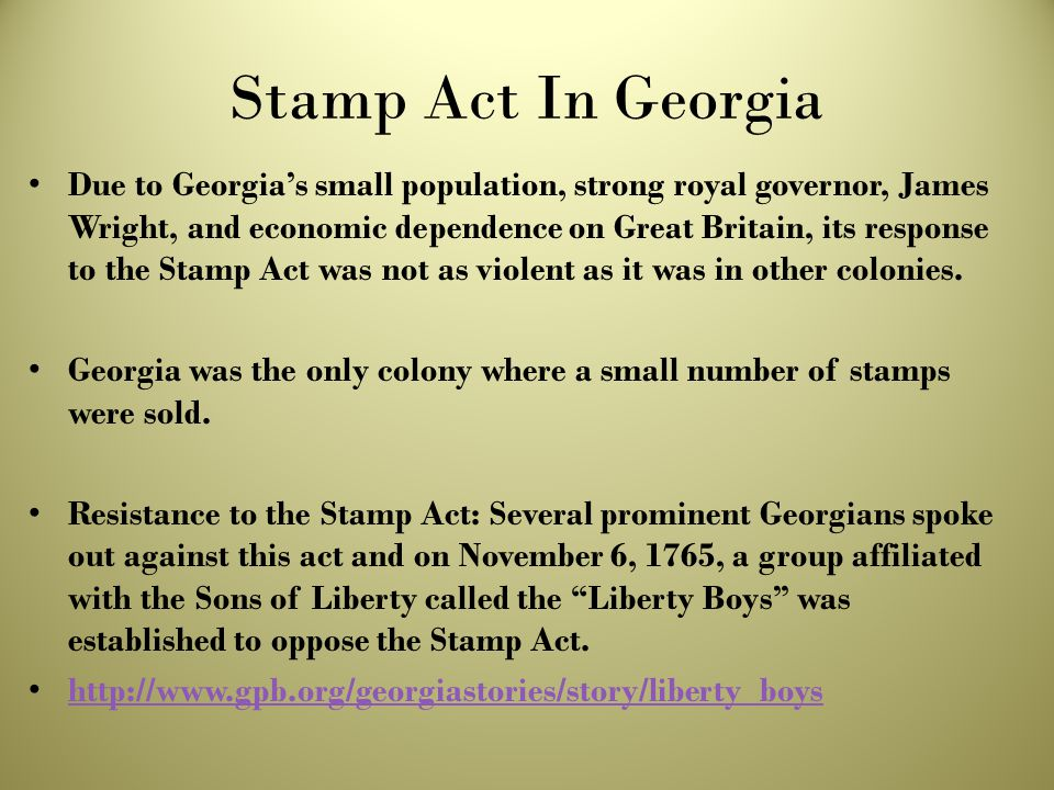 Stamp Act In Georgia