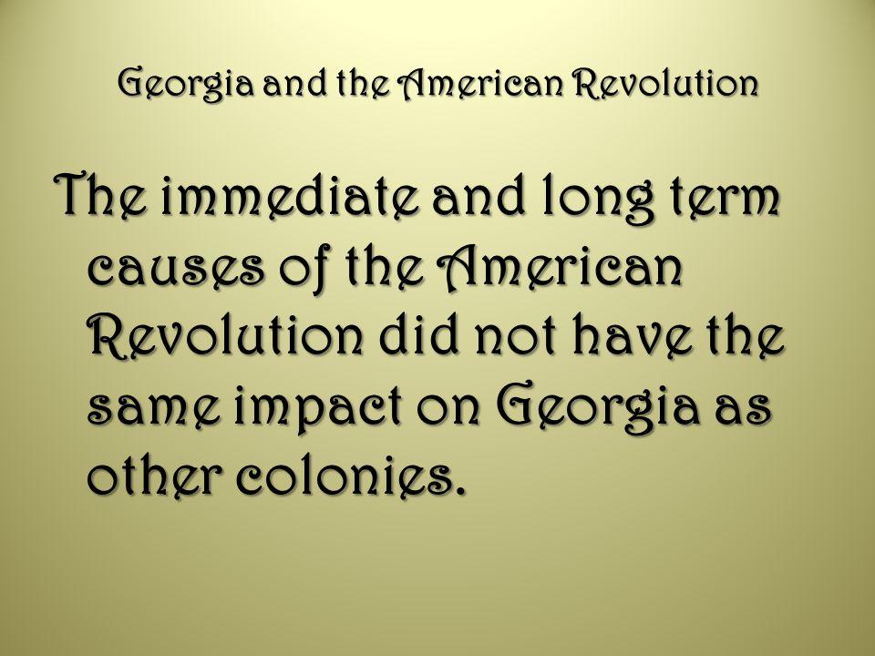 Georgia and the American Revolution