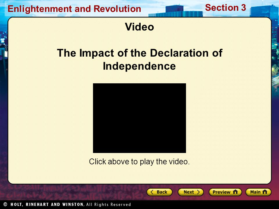 Video The Impact of the Declaration of Independence